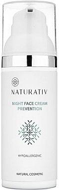 Нощен крем за лице - Naturativ Facial Night Cream 30+ — снимка N3