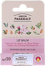 Парфюми, Парфюмерия, козметика Балсам за устни с 5 масла - Green Pharmacy Lip Balm With 5 Oils, SPF 10