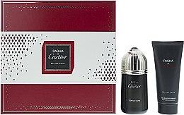 Cartier Pasha de Cartier Edition Noire - Комплект (тоал. вода/100ml + душ гел/100ml) — снимка N1