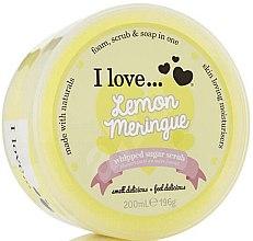 Парфюмерия и Козметика Захарен скраб за тяло с аромат на лимонов тарт - I Love... Lemon Meringue Whipped Sugar Scrub