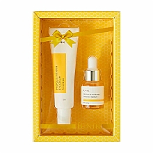 Парфюмерия и Козметика Комплект за околоочния контур - iUNIK Propolis Vitamin Eye Cream Set (крем/30ml + серум/15ml)