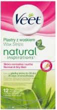 Парфюми, Парфюмерия, козметика Восъчни ивици с Алое Вера - Veet Natural Inspirations Slices Of Wax Normal And Dry Skin