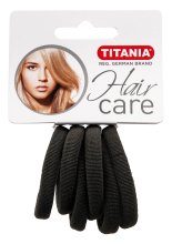 Парфюмерия и Козметика Ластици за коса, малки, сиви - Titania