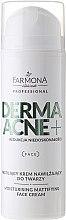 Парфюмерия и Козметика Матиращ крем за лице с AHA киселини - Farmona Professional Dermaacne+ Moisturising Mattifying Face Cream