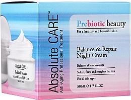 Парфюмерия и Козметика Балансиращ и възстановяващ нощен крем за лице - Absolute Care Prebiotic Beauty Balance&Repair Night Cream