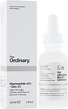 Парфюмерия и Козметика Серум за лице с ниацинамид и цинк - The Ordinary Niacinamide 10% + Zinc PCA 1%