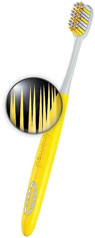 Средно твърда сребърна йонна четка за зъби, жълта - Biomed Silver Medium — снимка N4