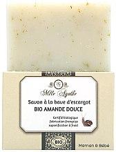 """Парфюми, Парфюмерия, козметика Органичен сапун с екстракт от охлюв """"Сладък бадем"""" - Mlle Agathe"""
