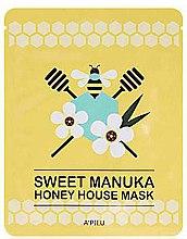 Парфюмерия и Козметика Памучна маска за лице с мед от манука - A'pieu Sweet Manuka Honey House Mask