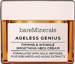 Парфюмерия и Козметика Укрепващ и изглаждащ крем за шия - Bare Escentuals Bare Minerals Moisturizer Ageless Genius Firming & Wrinkle Smoothing Neck Cream