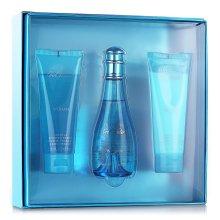 Парфюми, Парфюмерия, козметика Davidoff Cool Water Woman - Комплект (edt/100ml + b/lot/75ml + sh/gel/75ml)