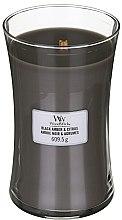 Парфюмерия и Козметика Ароматна свещ в чаша - WoodWick Hourglass Candle Black Amber And Citrus
