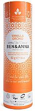 Парфюми, Парфюмерия, козметика Дезодорант на базата на сода с аромат на ванилия и орхидея - Ben & Anna Natural Soda Deodorant Paper Tube Vanilla Orchid