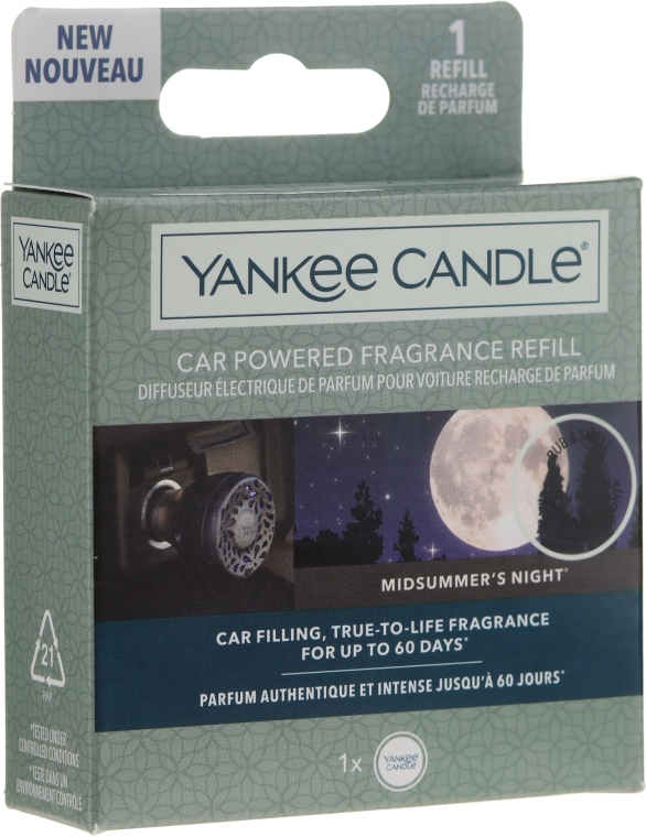 Ароматизатор за кола - Yankee Candle Car Powered Fragrance Refill Midsummer's Night — снимка N1