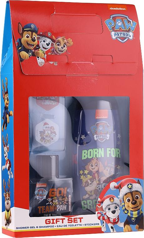 Комплект за деца - Uroda For Kids Paw Patrol Red (душ гел/250ml + тоал. вода/50ml + стикери)