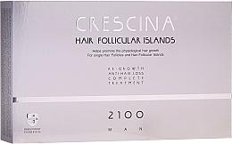 Парфюмерия и Козметика Комплексна терапия против косопад за мъже 2100 - Labo Crescina Hair Follicular Island Re-Growth Anti-Hair Loss Complete Treatment 2100 Man