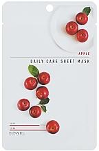 Парфюмерия и Козметика Подхранваща маска за лице с екстракт от ябълка - Eunyu Daily Care Sheet Mask Shea Apple