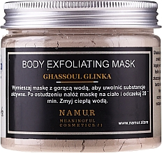 Парфюмерия и Козметика Маска за тяло с глина гасул - Namur Body Exfoliating Ghassoul Clay