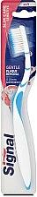 Парфюмерия и Козметика Мека четка за зъби, синя - Signal Slim Care Sensitive Soft