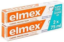 Парфюмерия и Козметика Комплект пасти за зъби - Elmex Toothpaste Caries Protection (toothpaste/2x75ml)
