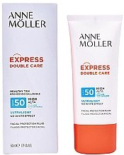 Парфюми, Парфюмерия, козметика Слънцезащитен флуид за лице - Anne Moller Double Care Ultralight Facial Protection Fluid SPF50