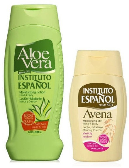 Комплект балсами за тяло - Instituto Espanol Aloe Vera & Avena Set (b/balm/500ml + b/balm/100ml) — снимка N2