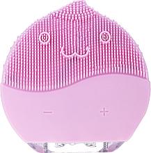 Парфюмерия и Козметика Почистваща четка за лице, BR-030, розова - Lewer Facial Cleansing Brush Pink