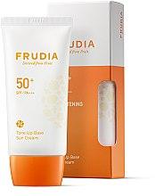 Парфюмерия и Козметика Слънцезащитна крем-основа за лице - Frudia Tone Up Base Sun Cream SPF50