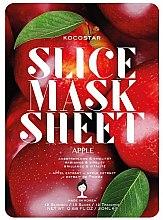 Парфюмерия и Козметика Маска за лице с екстракт от ябълка - Kocostar Slice Mask Sheet Apple