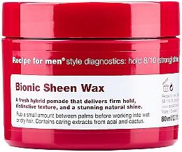 Парфюмерия и Козметика Блестящ восък за оформяне на коса - Recipe for Men Bionic Sheen Wax