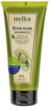 Парфюмерия и Козметика Възстановяваща маска за коса с екстракт от репей и маслина - Melica Organic Regenerative Hair Mask