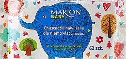 Парфюми, Парфюмерия, козметика Детски мокри кърпички, 63бр - Marion