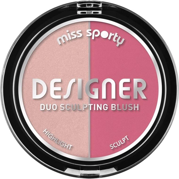 Руж и хайлайтър за лице - Miss Sporty Draping Designer Duo Sculpting Blush