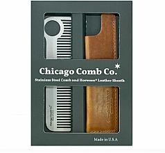 Парфюмерия и Козметика Комплект - Chicago Comb Co CHICA-1-SET (гребен/1 бр. + калъф/1 бр.)