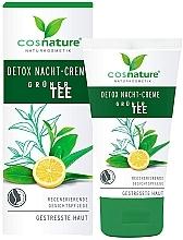 Парфюмерия и Козметика Нощен детокс крем за лице със зелен чай - Cosnature Night Cream Detox Green Tea