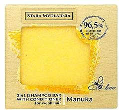 Парфюмерия и Козметика Твърд шампоан-балсам за коса - Stara Mydlarnia Manuka Honey 2in1 Shampoo Bar