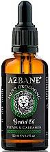 "Парфюмерия и Козметика Масло за брада ""Ветивер и кардамон"" - Azbane Men's Grooming Beard Oil Vetiver & Cardamom"