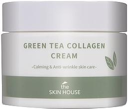 Парфюмерия и Козметика Успокояващ крем за лице с колаген и екстракт от зелен чай - The Skin House Green Tea Collagen Cream
