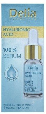 Интензивен запълващ серум против бръчки с хиалуронова киселина за лице, шия и деколте - Delia Face Care Hyaluronic Acid Face Neckline Intensive Serum — снимка N2
