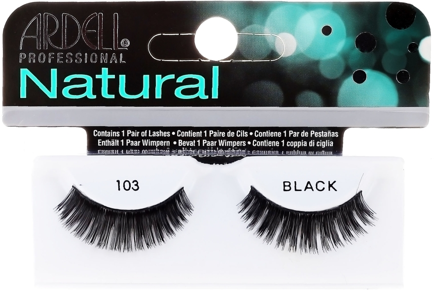 Изкуствени мигли - Ardell Natural Demi Black 103 — снимка N1
