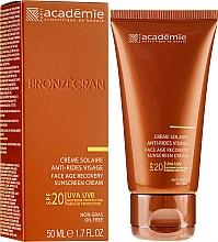 Парфюмерия и Козметика Слънцезащитен регенериращ крем SPF 20+ - Academie Bronzecran Face Age Recovery Sunscreen Cream