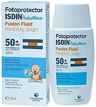 Парфюмерия и Козметика Слънцезащитен флуид за деца - Isdin Fotoprotector Pediatrics Fusion Fluid Mineral Baby SPF50+