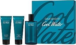 Парфюмерия и Козметика Davidoff Cool Water - Комплект (edt/125ml + sh/gel/75ml + ash/balm/75ml)