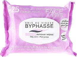 Парфюми, Парфюмерия, козметика Къпички за премахване на грим - Byphasse Make-up Remover Hazel Water & Orange Blossom Wipes