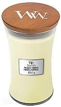 Парфюмерия и Козметика Ароматна свещ в чаша - WoodWick Hourglass Candle Fig Leaf and Tuberose