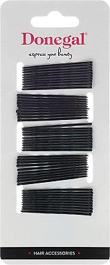 Фиби за коса , черни 4,3 см, 50 бр. - Donegal Bobby Pin Black Small — снимка N1