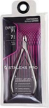 """Парфюмерия и Козметика Професионални клещи за кожички NE-71-7 """"Expert"""" - Staleks Pro"""