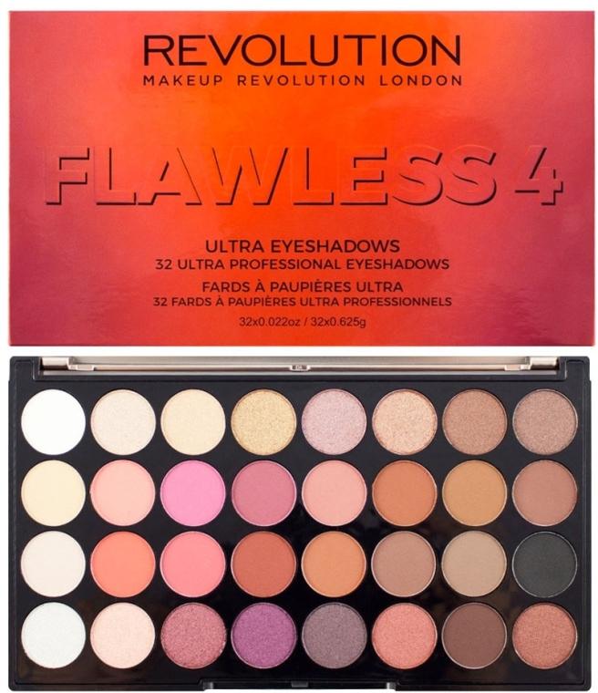 Палитра сенки за очи, 32 цвята - Makeup Revolution Ultra 32 Shade Palette Flawless 4