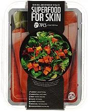 Парфюми, Парфюмерия, козметика Комплект памучни маски за лице - Superfood For Skin Dull And Devoid Of Vitality Skin (mask/7x25ml)