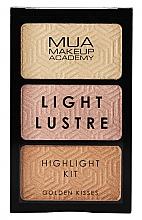 Парфюмерия и Козметика Палитра хайлайтъри за лице - MUA Light Lustre Trio Highlight